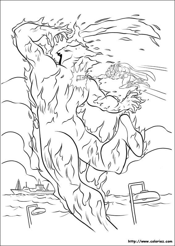 dessin à colorier thor avengers