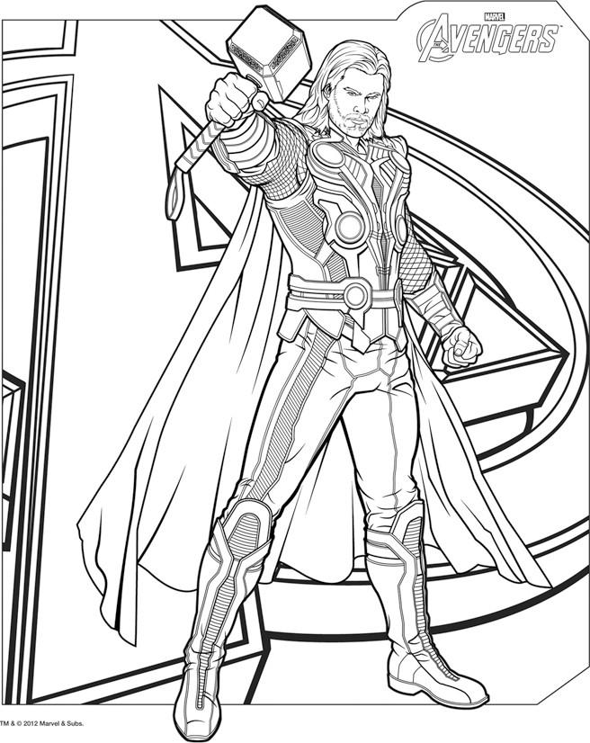 dessin à colorier heros thor