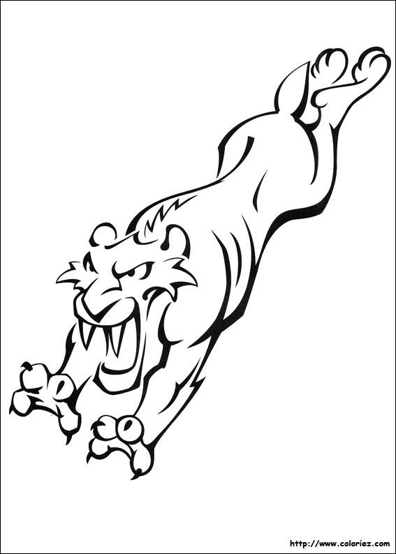 13 dessins de coloriage tigre a dent de sabre imprimer - Dessin de sabre ...