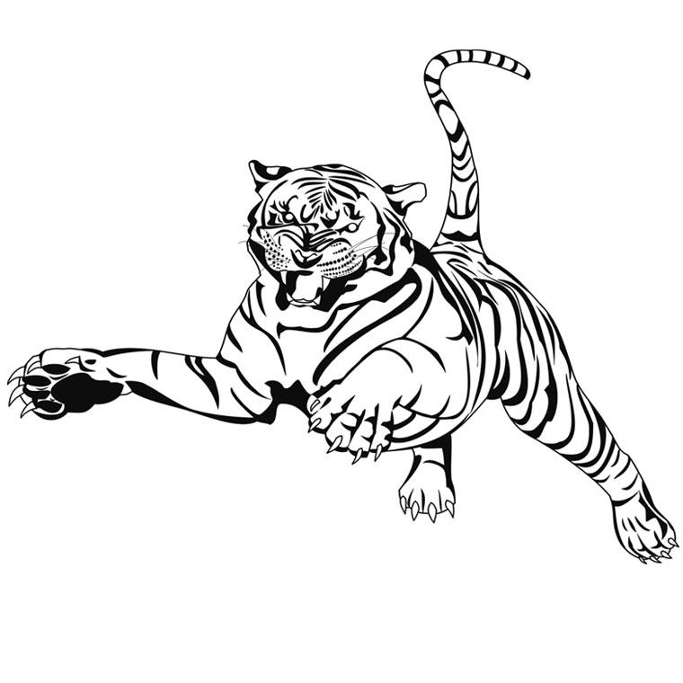 13 dessins de coloriage tigre a dent de sabre imprimer - Dessin de dent ...