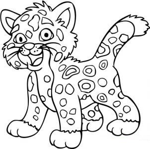 19 dessins de coloriage tigre b b imprimer - Jaguar dessin ...