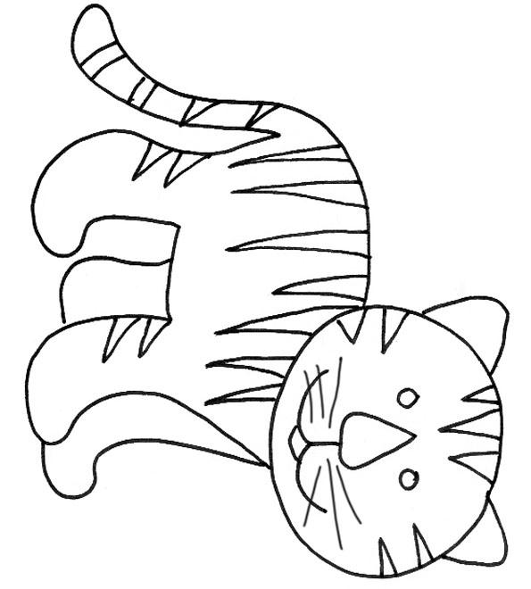 Dessin Simple Tigre