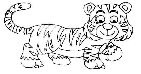 19 dessins de coloriage Tigre Cirque à imprimer