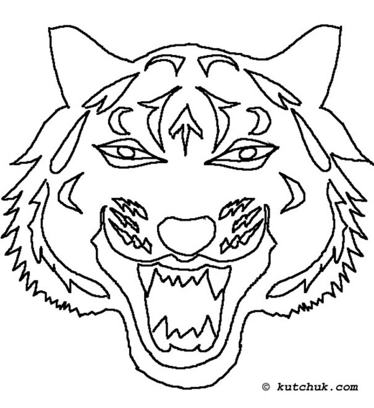 Coloriage Tigre Mandala September 2014