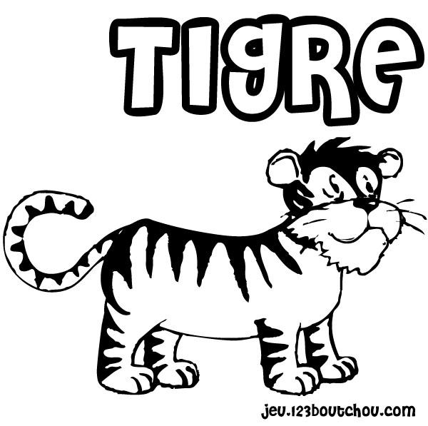 dessin à colorier tete tigre