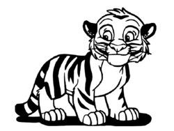Coloriage Bebe Felin.Coloriage Tigre A Dent De Sabre
