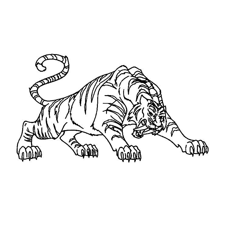 coloriage tigre en ligne