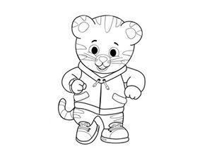 coloriage à dessiner tv tigre