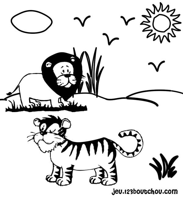 coloriage bébé tigre imprimer