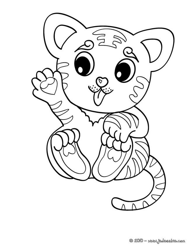 Coloriage Bebe Leopard.Coloriage A Dessiner Tigre Blanc Imprimer