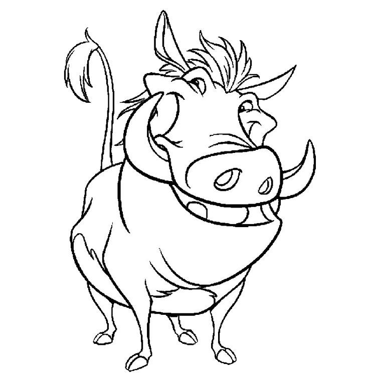 dessin timon et pumba