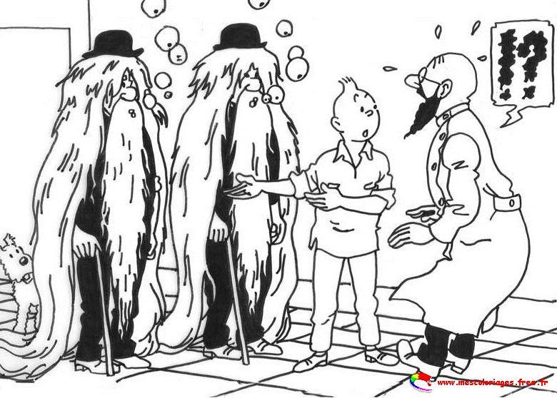 44 Dessins De Coloriage Tintin 224 Imprimer