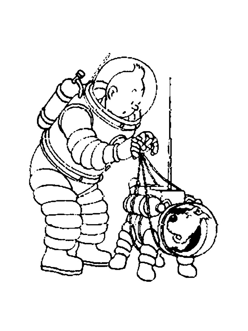 Coloriage Bateau La Licorne Tintin.Coloriage Tintin Capitaine Haddock