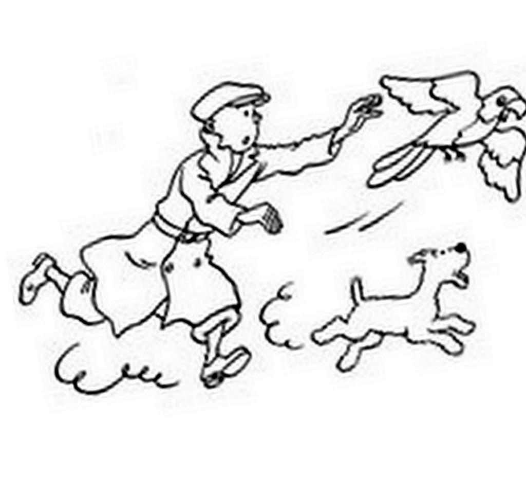 Dessin colorier de tintin et milou a imprimer gratuit - Tintin gratuit ...
