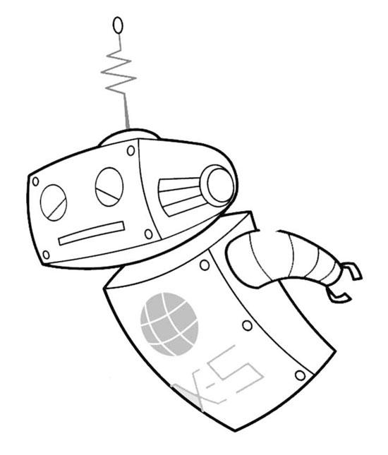 coloriage à dessiner robot