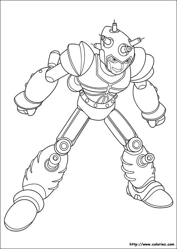 coloriage à dessiner robot combat