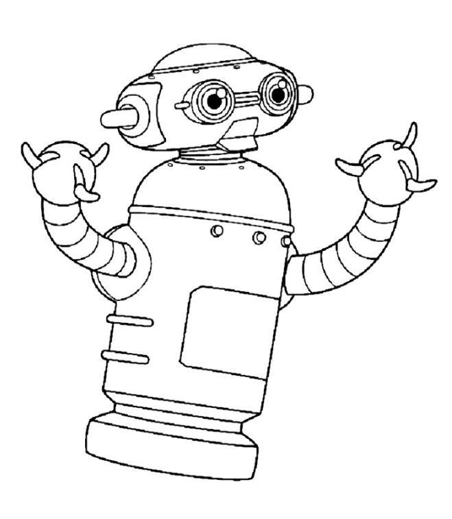 dessin à colorier de robot a imprimer