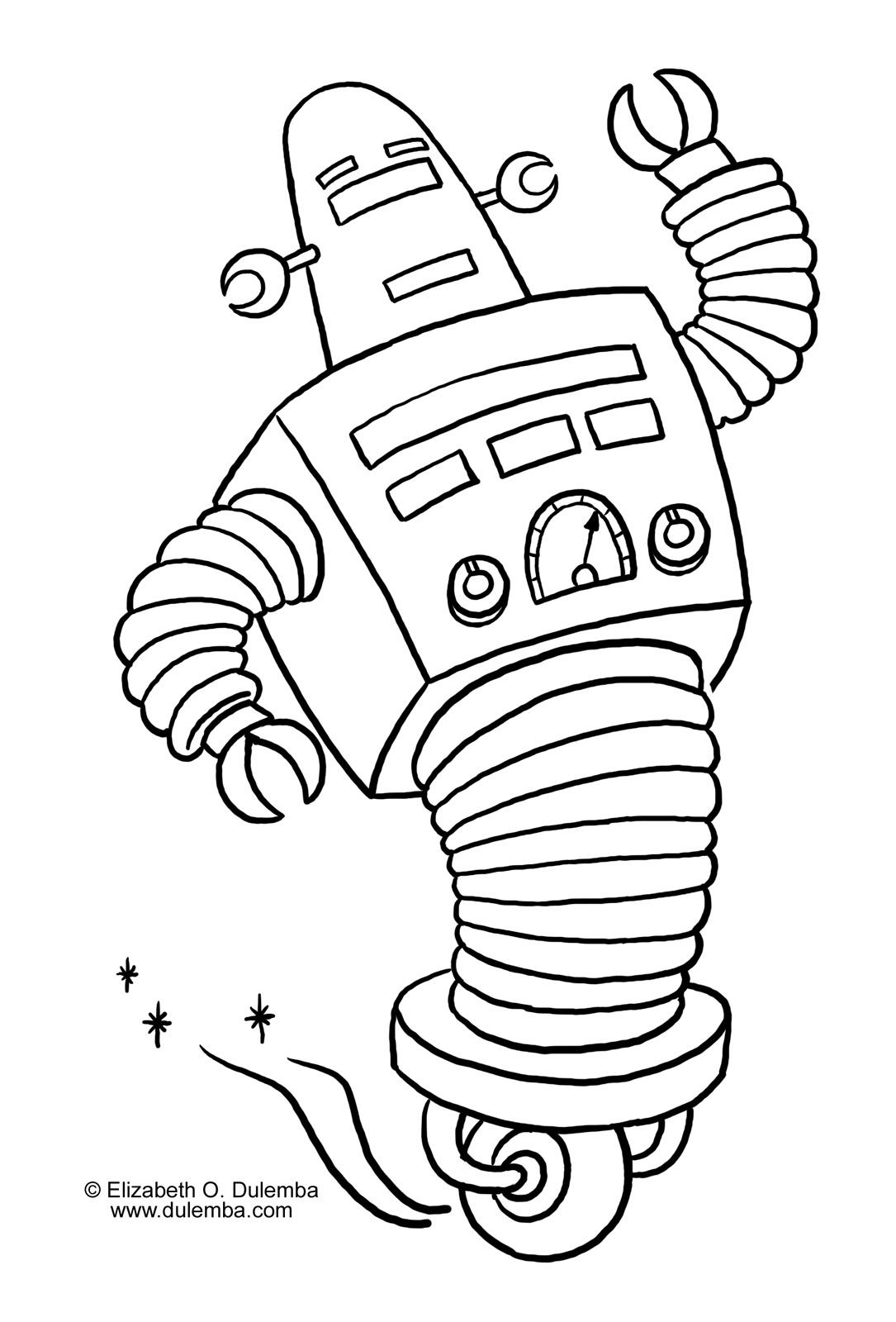 Dessin colorier robot x - Coloriage tobot ...