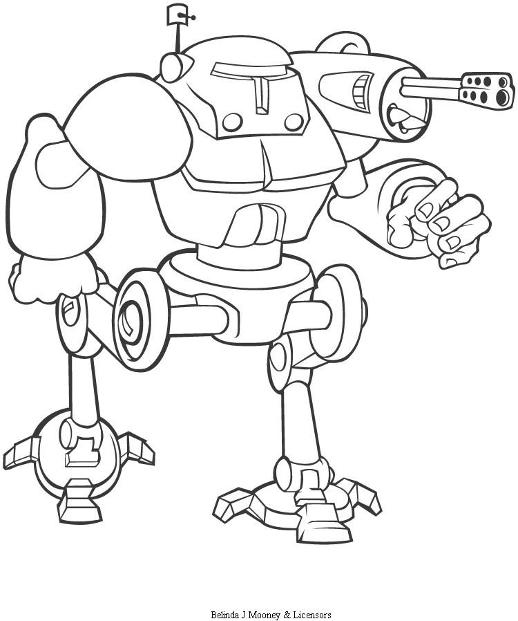 dessin à colorier robot à imprimer