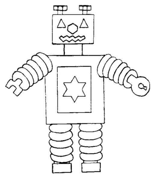 coloriage à dessiner robot de guerre