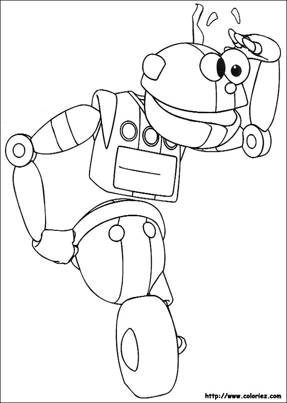 coloriage robot y