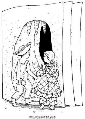 dessin a colorier tom sawyer