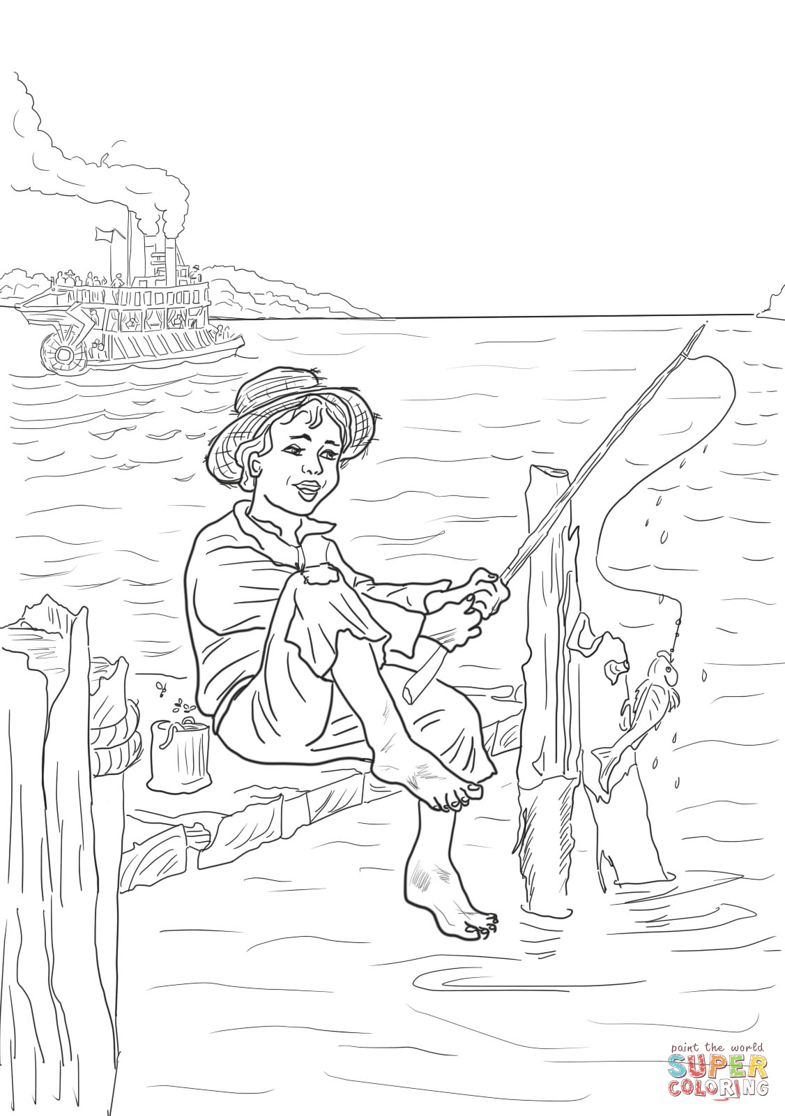 coloriage à dessiner tom sawyer gratuit
