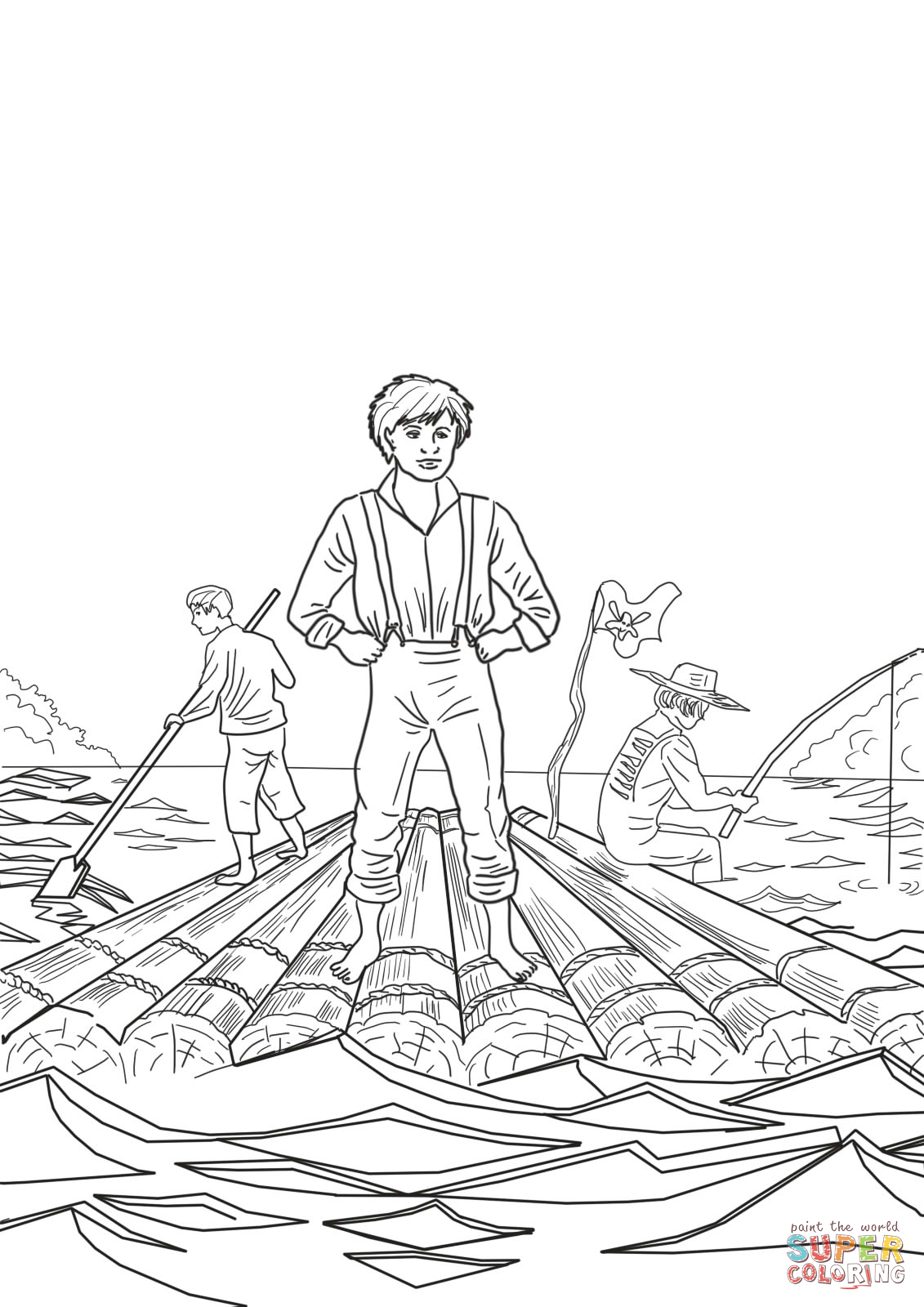 coloriage gratuit de tom sawyer