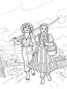 coloriage tom sawyer gratuit