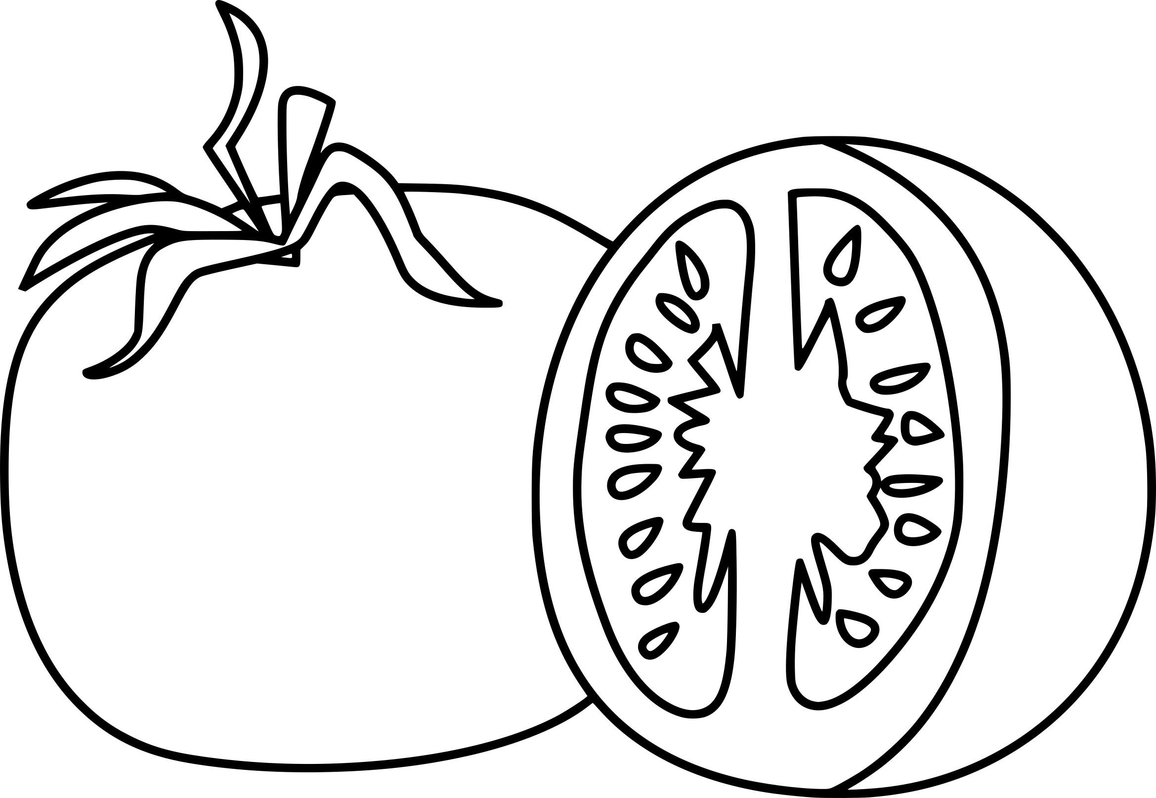 36 Dessins De Coloriage Tomate à Imprimer