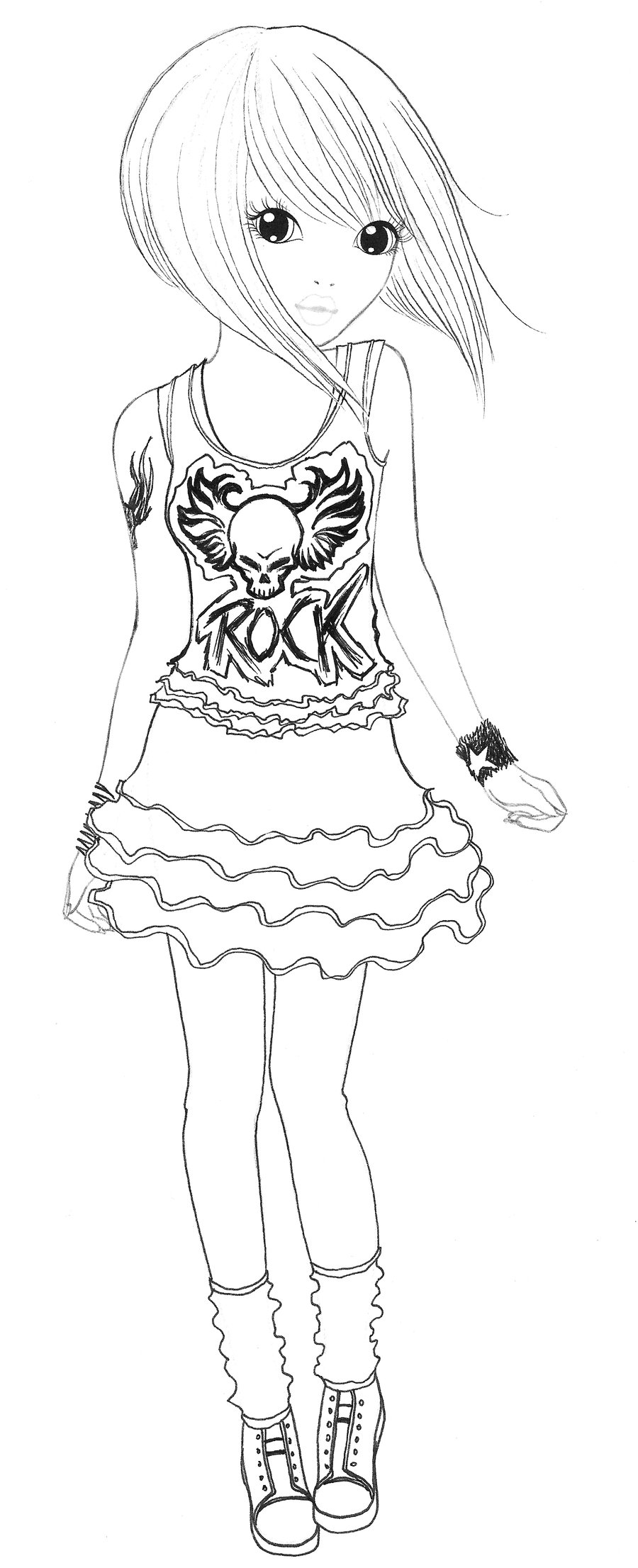 Jeux coloriage top model - Dessin de fille de mode ...