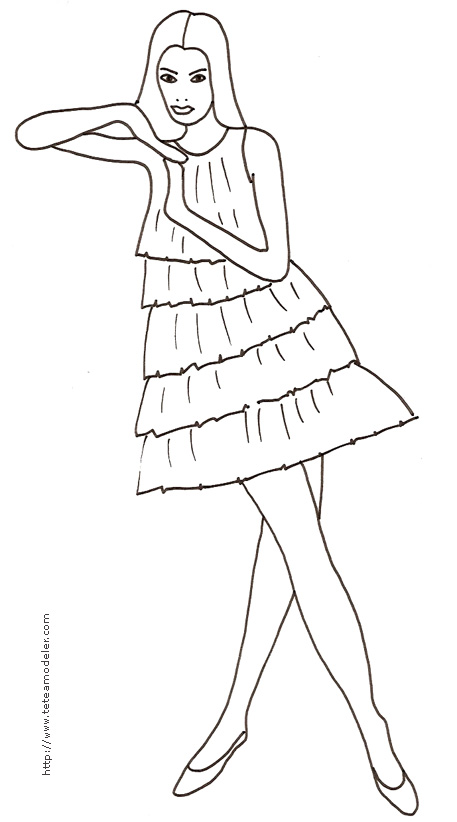Mode Top Model Coloriage Fille.Coloriage A Dessiner De Top Model A Colorier Sur L Ordinateur