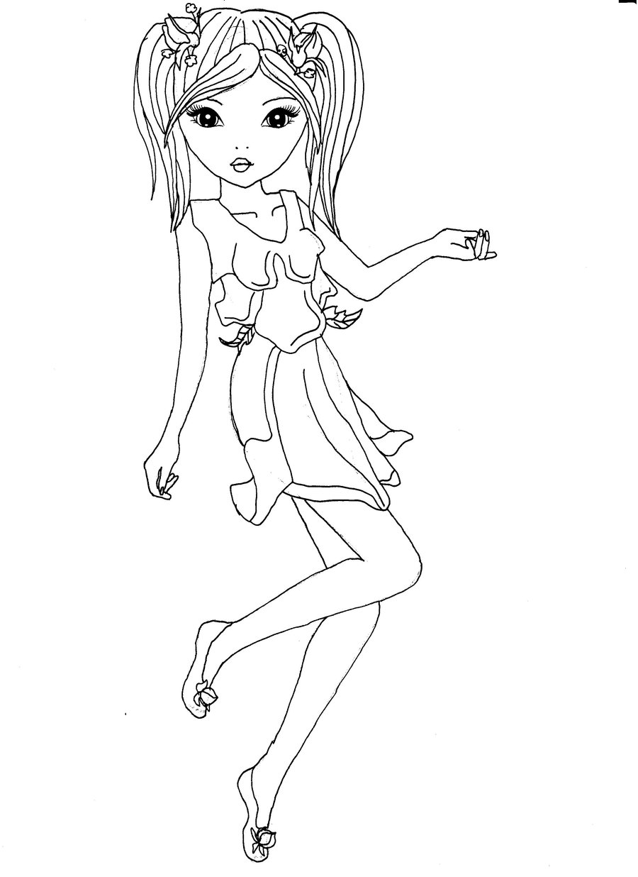 coloriage top model