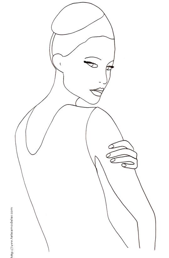 Coloriage de top model a habiller a imprimer - Mannequin coloriage ...