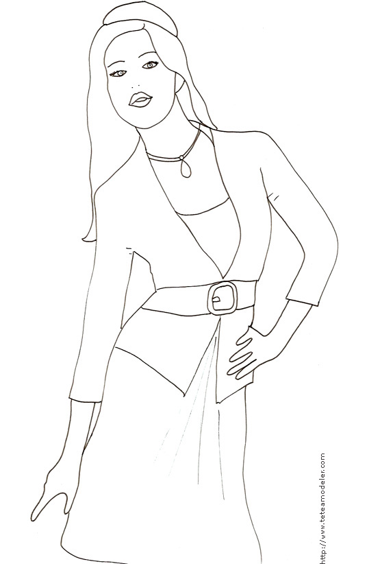 Jeux coloriage top model - Coloriage top model a imprimer ...