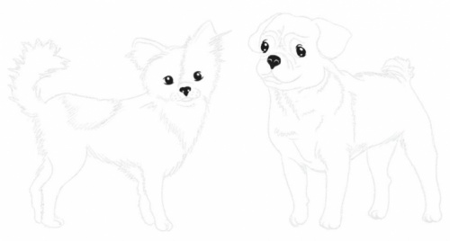 Dessin top model chien - Coloriage top model a imprimer ...