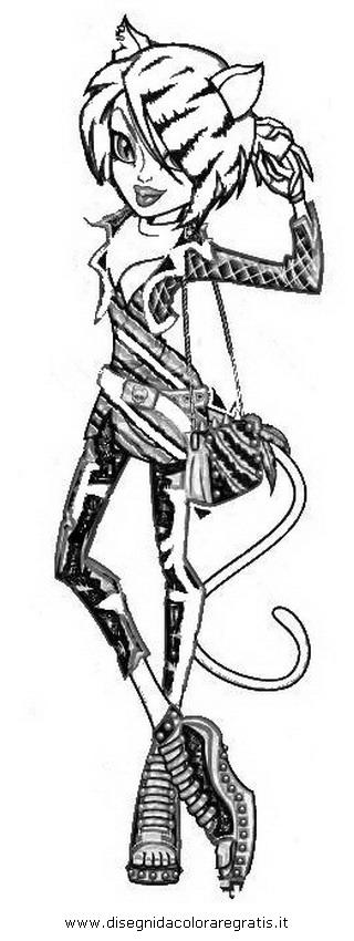 dessin � colorier de toralei monster high
