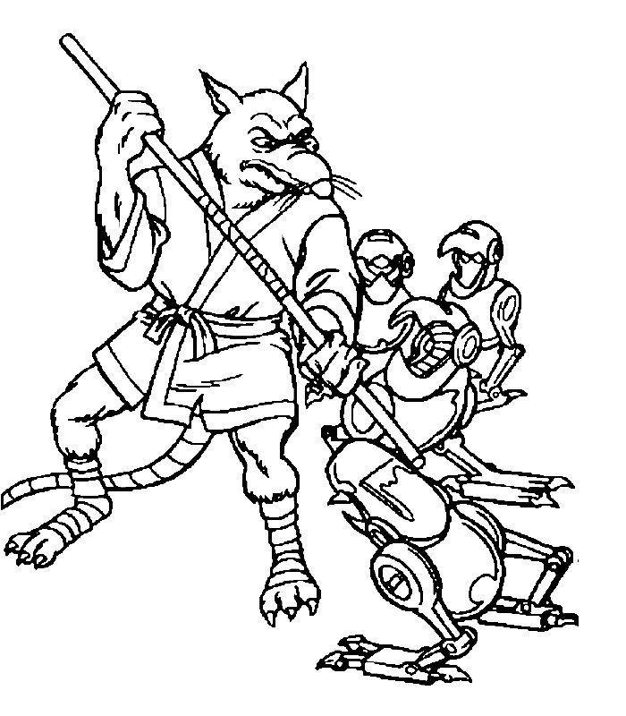20 dessins de coloriage tortue ninja a imprimer gratuit - Rat tortues ninja ...