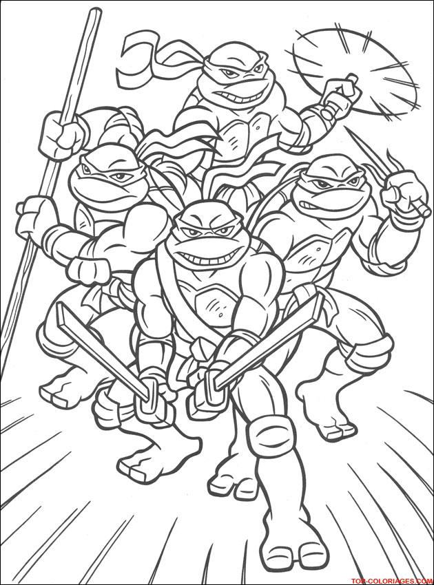 20 dessins de coloriage tortue ninja a imprimer gratuit imprimer - Tortue en dessin ...