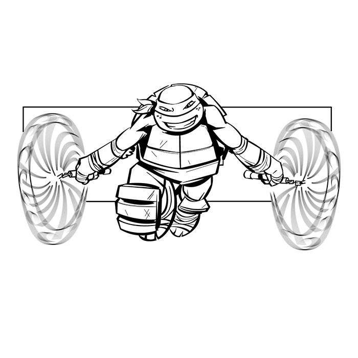 20 dessins de coloriage tortue ninja a imprimer gratuit - Coloriage tortue ninja ...