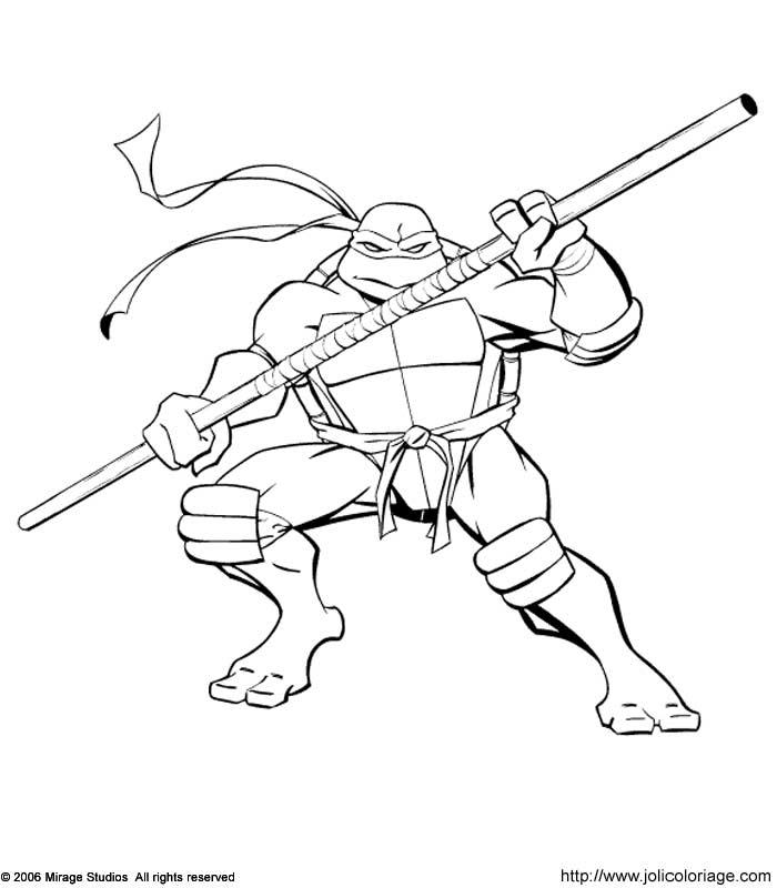 20 dessins de coloriage tortue ninja en ligne imprimer - Coloriage tortue ninja ...