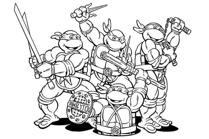 20 dessins de coloriage tortue ninja gratuit imprimer - Dessin anime des tortues ninja ...