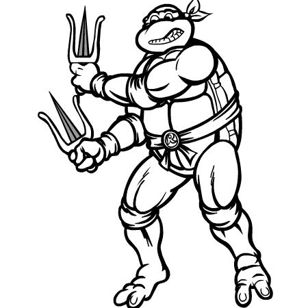 19 dessins de coloriage Tortue Ninja Nickelodeon à imprimer