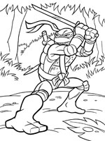 coloriage à dessiner tortue ninja maternelle
