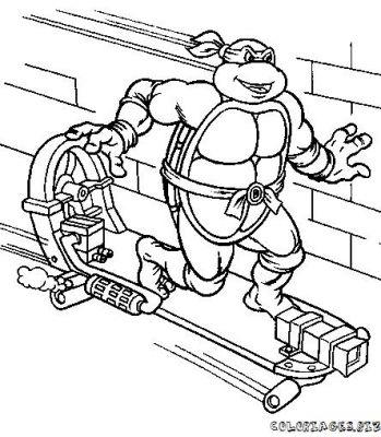 coloriage à dessiner tortue ninja en ligne gratuit