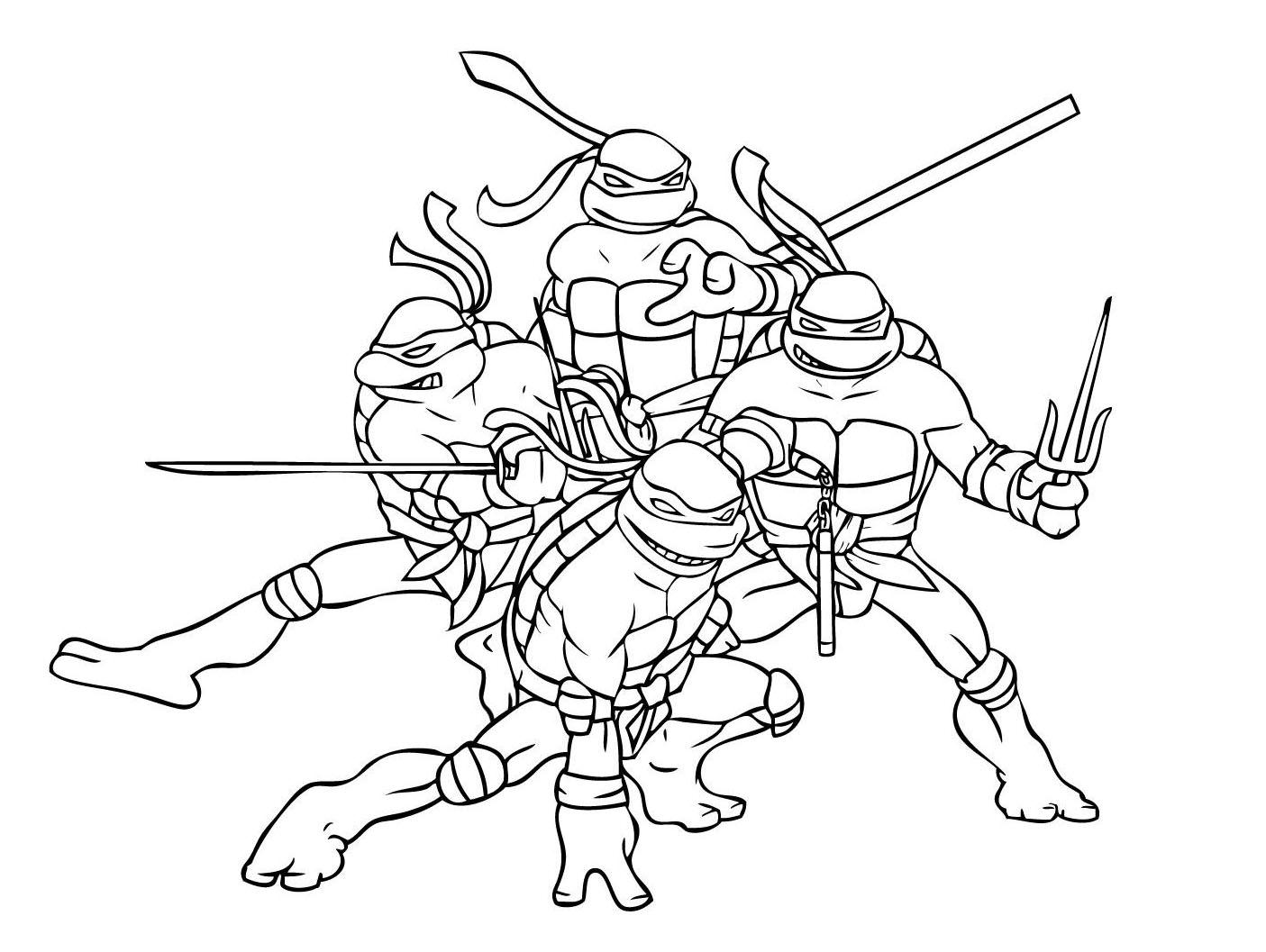 dessin tortue ninja gratuit