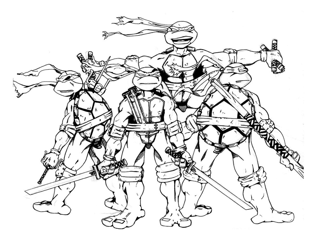 dessin à colorier sur ordinateur tortue ninja