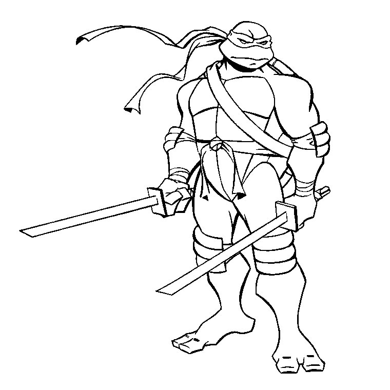 dessin tortue ninja leonardo