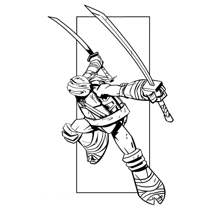 livre dessin à colorier tortue ninja