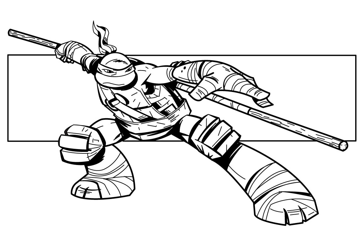 coloriage tortue ninja lego